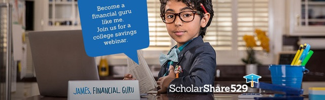Become a financial guru like me.  Join us for a college savings webinar.