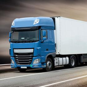 Modern clean fuel semi truck