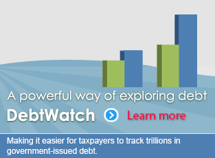 A powerful way of exploring debt - DebtWatch. Treasurer Chiang created this site to track $1.5 trillion in government-issued debt.
