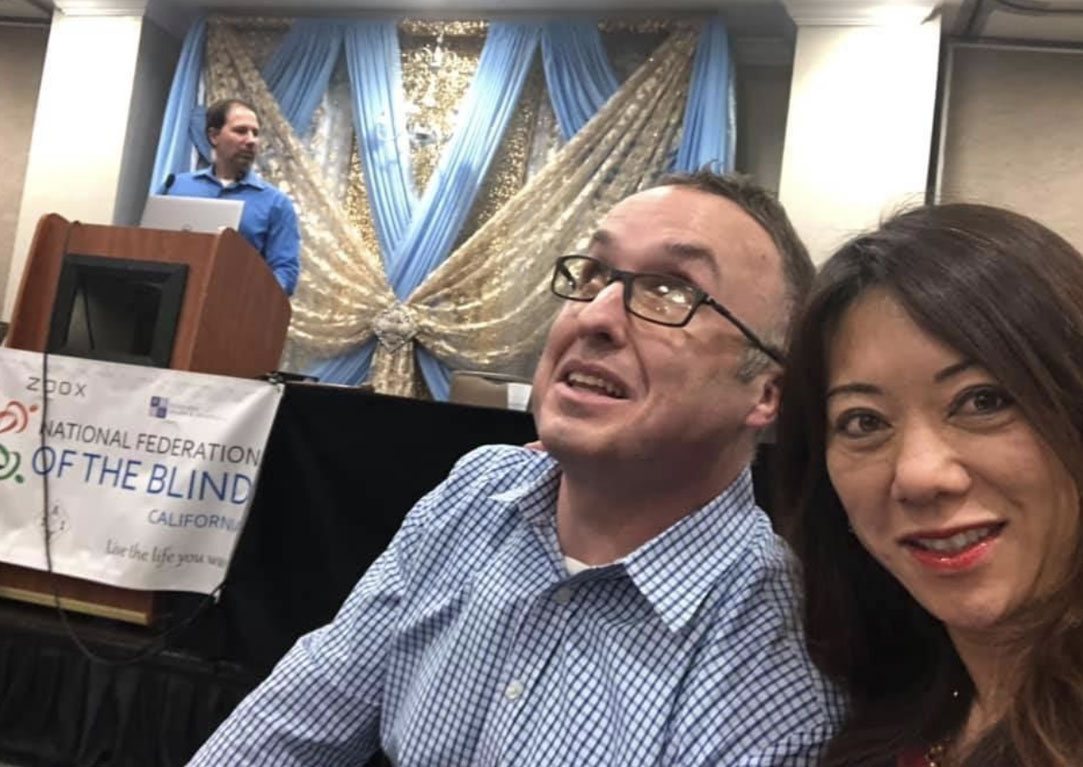 At the 2019 National Federation of the Blind California Convention